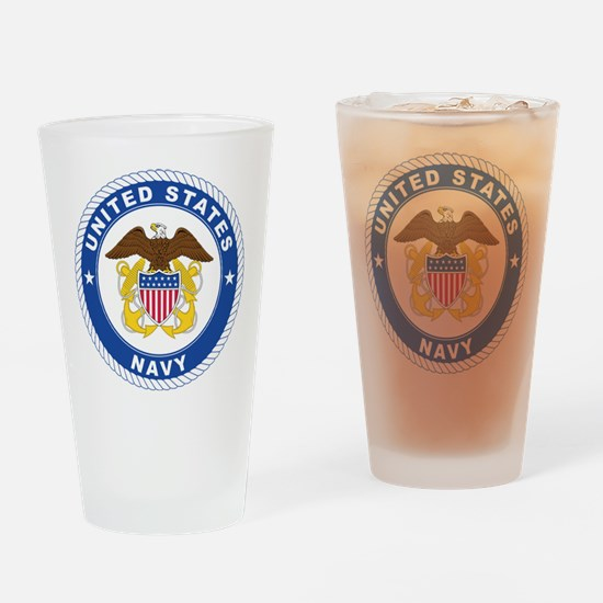 U.S. Navy Emblem Drinking Glass