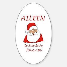 Aileen Christmas Oval Decal