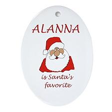 Alanna Christmas Oval Ornament
