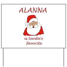 Alanna Christmas Yard Sign