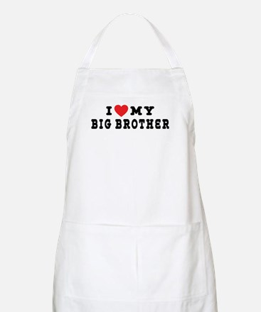 I Love My Big Brother BBQ Apron