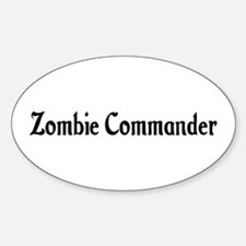 Zombie Commander Oval Decal