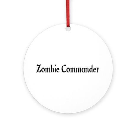Zombie Commander Ornament (Round)