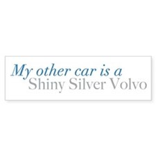 Silver Volvo Bumper Bumper Sticker