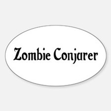 Zombie Conjurer Oval Decal