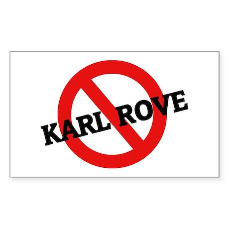 Anti Karl Rove Rectangle Sticker