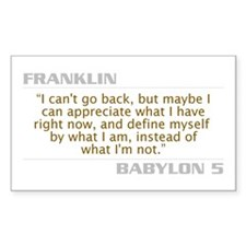 "Franklin ""I Can't Go Back"" Decal"