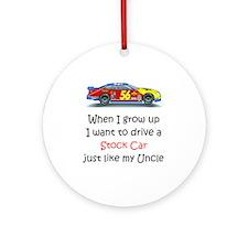 WIGU Stock Car Uncle Ornament (Round)