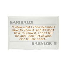 "Garibaldi ""I Know What I Know"" Rectangle"
