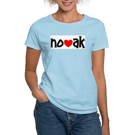 I Love Novak Women's Light T-Shirt