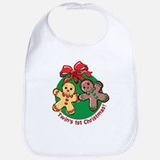 TWIN'S 1ST CHRISTMAS! Bib