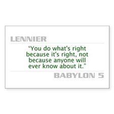 """Lennier """"Do What is Right"""" Decal"""