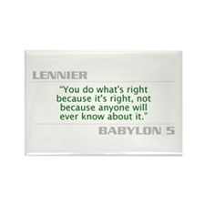 """Lennier """"Do What is Right"""" Rectangle Mag"""