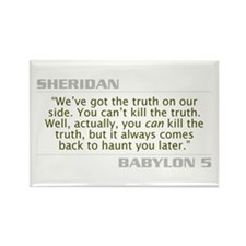 "Sheridan ""Can't Kill the Truth"" Rectangle Magnet"