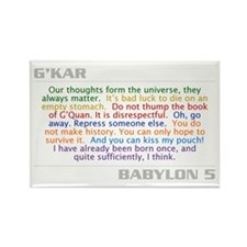 G'Kar Quote Combo Rectangle Magnet