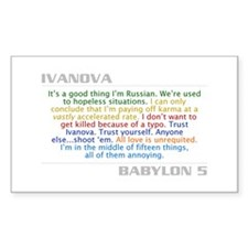 Ivanova Quote Combo Rectangle Decal