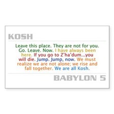 Kosh Quote Combo Rectangle Decal