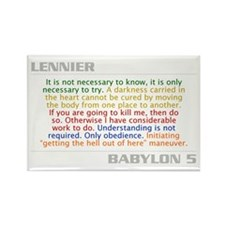 Lennier Quote Combo Rectangle Magnet