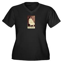 Alice Liddell Women's Plus Size V-Neck Dark T-Shir