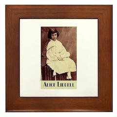 Alice Liddell Framed Tile