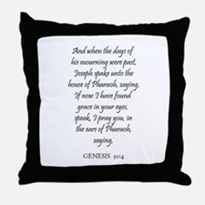 GENESIS  50:4 Throw Pillow