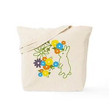 flower bunny Tote Bag