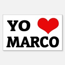 Amo (i love) Marco Rectangle Decal