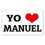Amo (i love) Manuel Rectangle Sticker