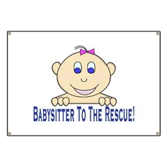Babysitter To The Rescue Banner