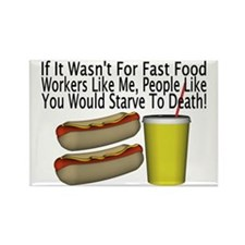 Fast Food Worker Rectangle Magnet (10 pack)