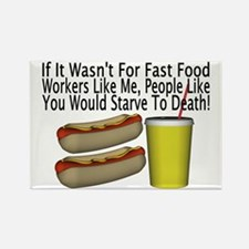 Fast Food Worker Rectangle Magnet