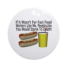 Fast Food Worker Ornament (Round)