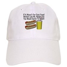 Fast Food Worker Baseball Cap