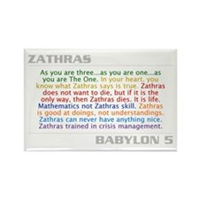 Zathras Quote Combo Rectangle Magnet