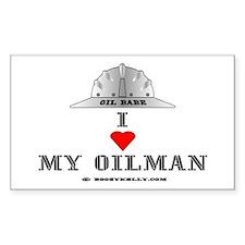 I Love My Oilman Rectangle Bumper Stickers