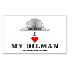 I Love My Oilman Rectangle Decal