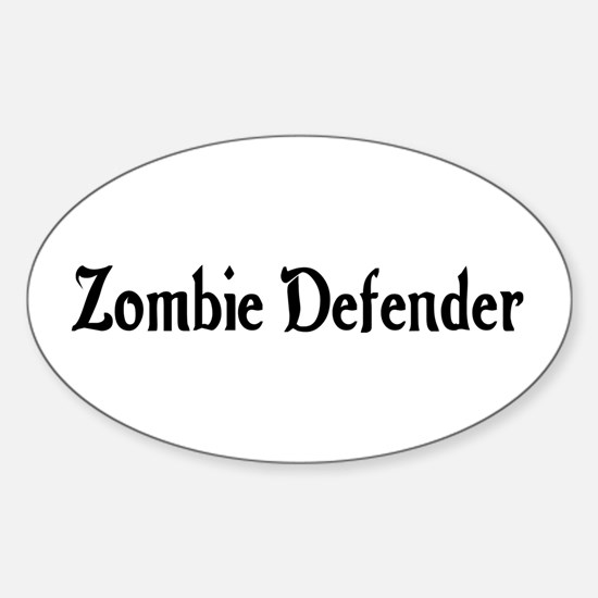 Zombie Defender Oval Decal