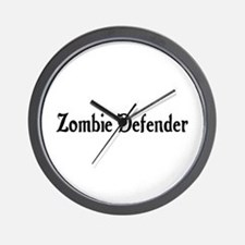 Zombie Defender Wall Clock