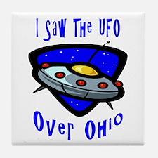 I Saw The UFO Tile Coaster