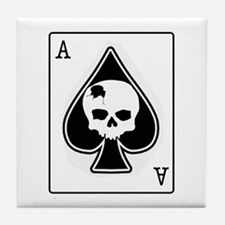 The Ace of Spades Tile Coaster