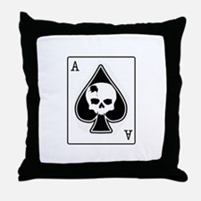 The Ace of Spades Throw Pillow