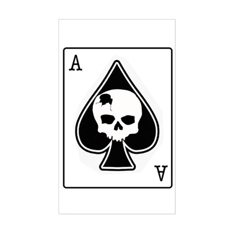 The Ace of Spades Rectangle Sticker