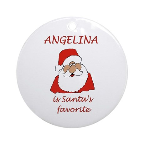 Angelina Christmas Ornament (Round)