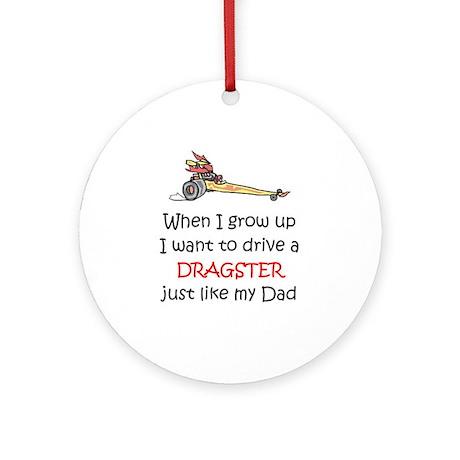 WIGU Dragster Dad Ornament (Round)