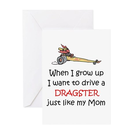 WIGU Dragster Mom Greeting Card