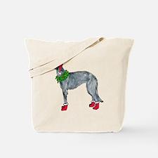 Christmas deerhound Tote Bag