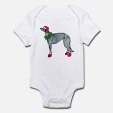 Christmas deerhound Infant Bodysuit