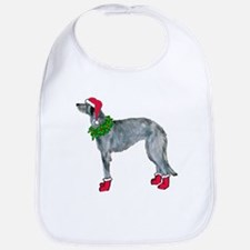 Christmas deerhound Bib