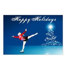 Holiday Skater Postcards (Package of 8)