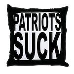 Patriots Suck Throw Pillow